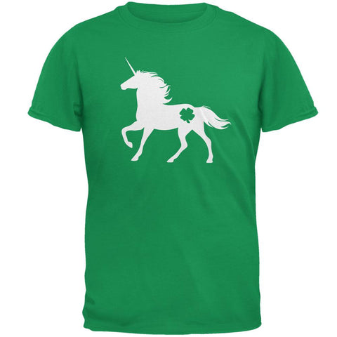 St. Patrick's Day Silhouette Unicorn Mens T Shirt
