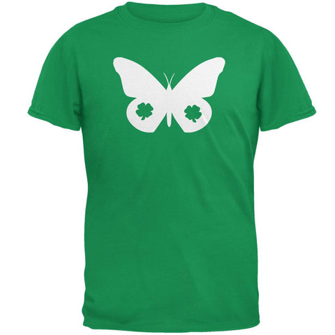 St. Patrick's Day Silhouette Butterfly Mens T Shirt