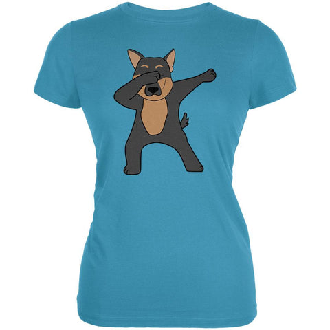 Dabbing German Shepherd Juniors Soft T Shirt