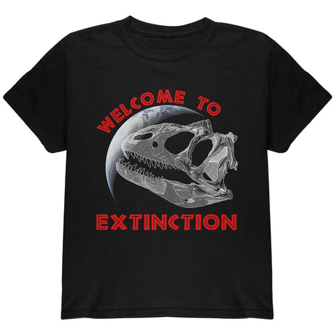 Earth Day Dino Dinosaur Fossil Welcome To Extinction Youth T Shirt