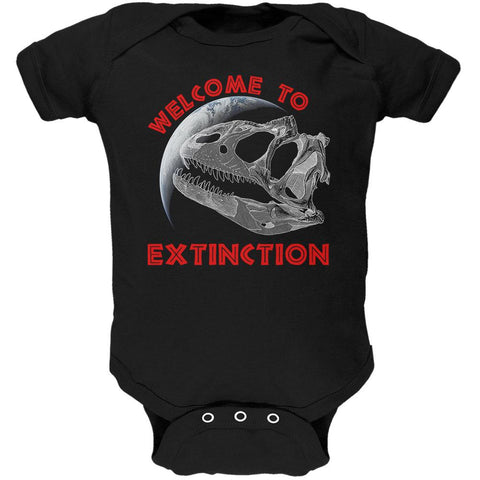 Earth Day Dino Dinosaur Fossil Welcome To Extinction Soft Baby One Piece