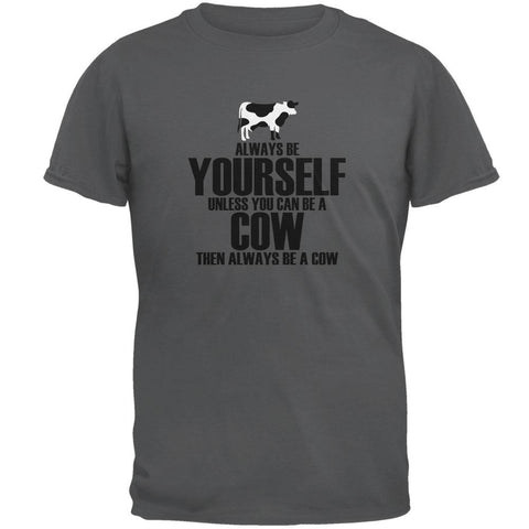 Always Be Yourself Cow Mens T Shirt