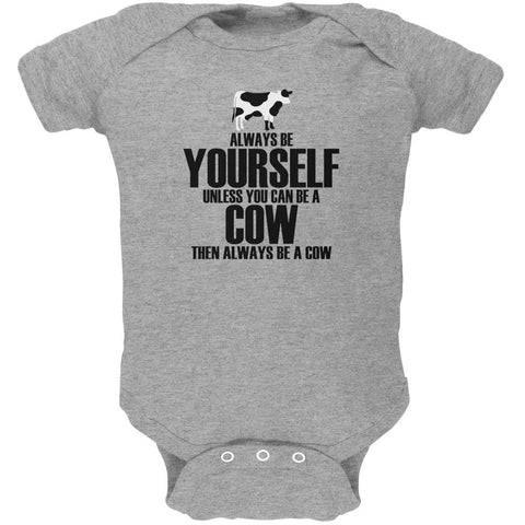 Always Be Yourself Cow Soft Baby One Piece