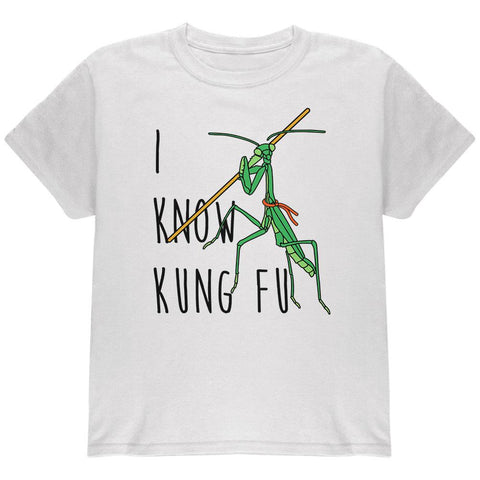 Praying Mantis I Know Kung Fu Youth T Shirt