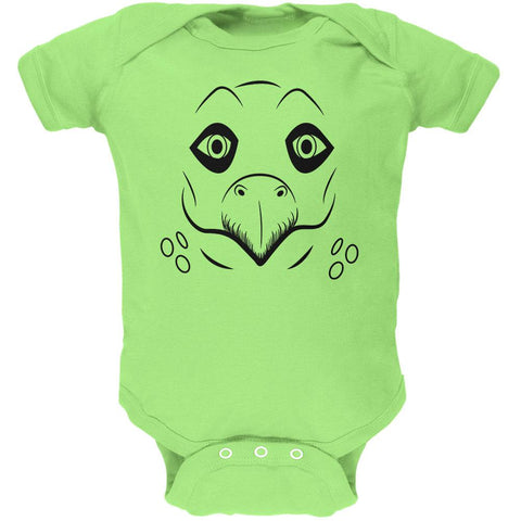 Cute Dino Dinosaur Face Stegosaurus Soft Baby One Piece