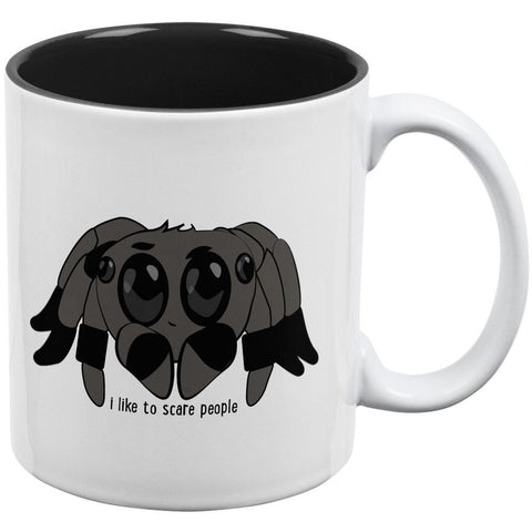 Cute Jumping Spider Cartoon I Like To Scare People All Over Coffee Mug