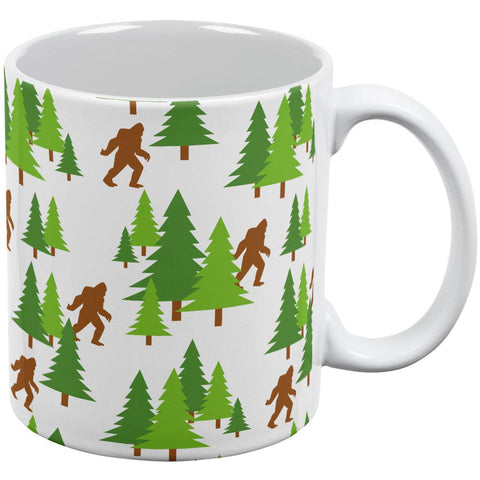 Sasquatch Bigfoot Woods Pattern All Over Coffee Mug