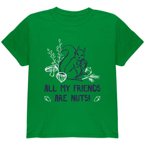 Squirrel All My Friends are Nuts Youth T Shirt
