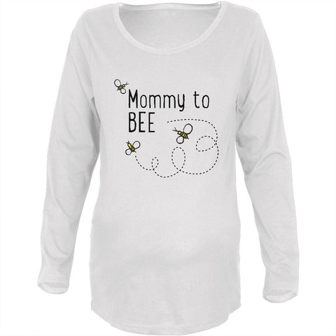 Bees Bumblebee Mommy to Bee Be Maternity Soft Long Sleeve T Shirt