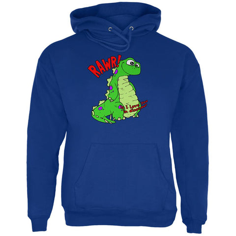 RAWR I Love You Dinosaur Mens Hoodie