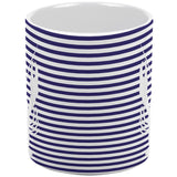 Lobster Navy Nautical Stripes All Over Coffee Mug