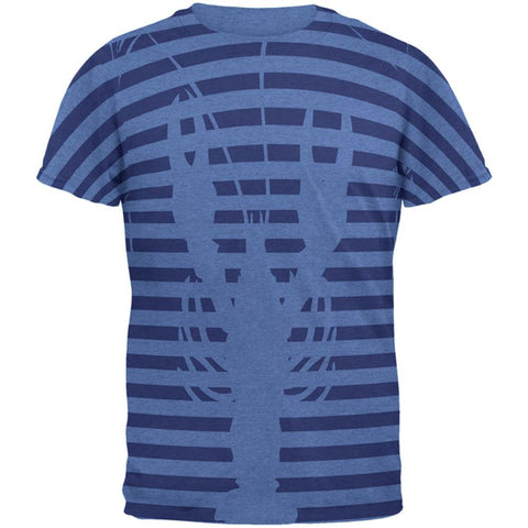 Lobster Navy Nautical Stripes Mens Soft T Shirt