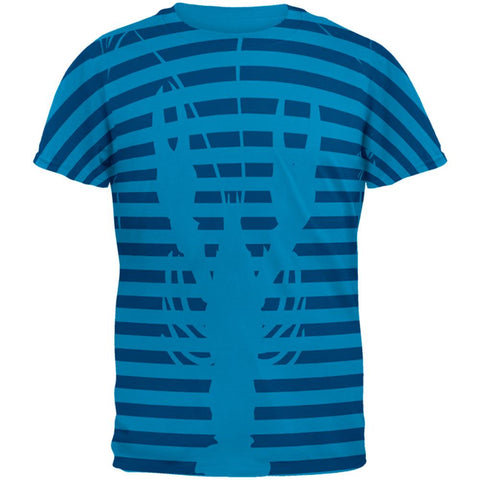 Lobster Navy Nautical Stripes Mens T Shirt