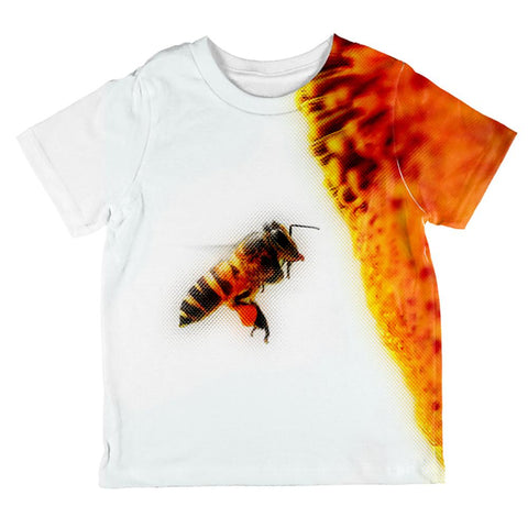 Honey Bee in Flight All Over Toddler T Shirt