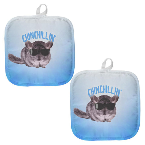 Chinchillin Chinchilla All Over Pot Holder (Set of 2)