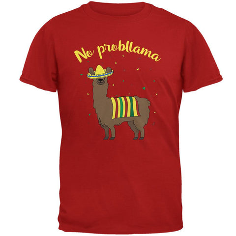 Cinco De Mayo Llama No Problem Problemo No Probllama Mens Soft T Shirt