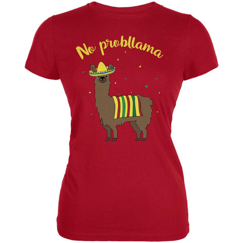 Cinco De Mayo Llama No Problem Problemo No Probllama Juniors Soft T Shirt