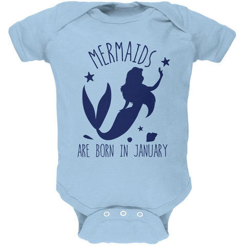Mermaids Are Born In January Soft Baby One Piece