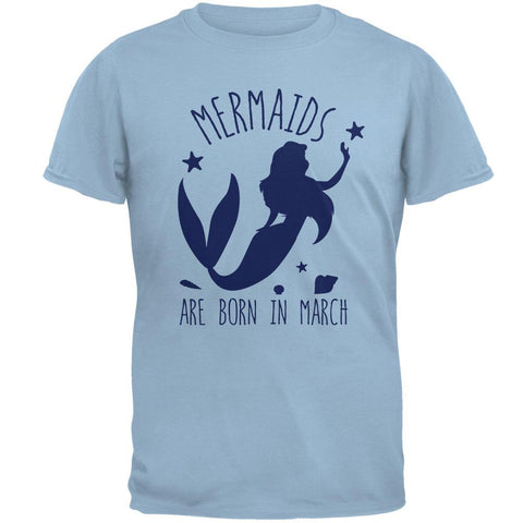 Mermaids Are Born In March Mens T Shirt