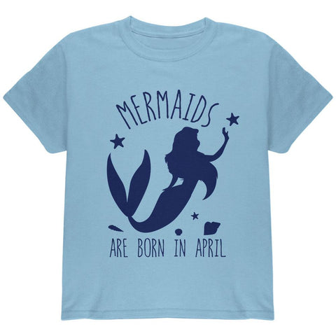 Mermaids Are Born In April Youth T Shirt