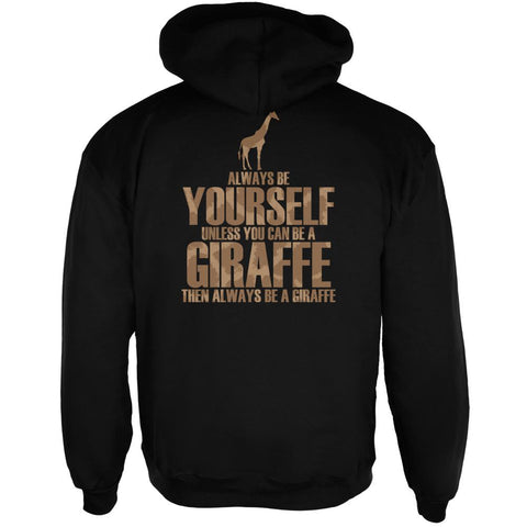 Always Be Yourself Giraffe Mens Full Zip Hoodie