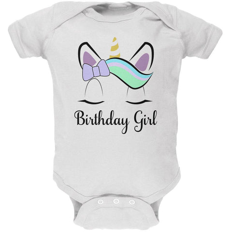 Birthday Girl Unicorn Soft Baby One Piece