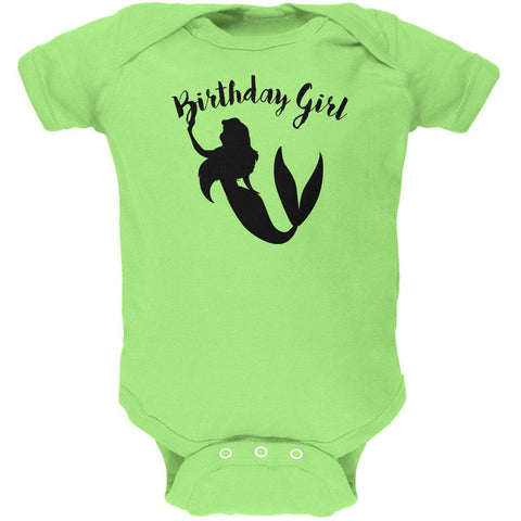 Birthday Girl Mermaid Soft Baby One Piece