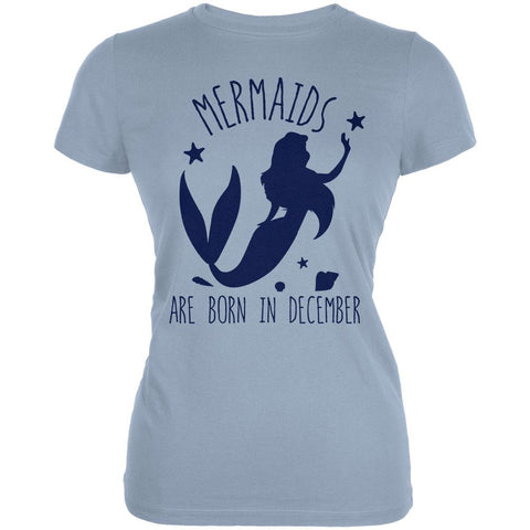 Mermaids Are Born In December Juniors Soft T Shirt