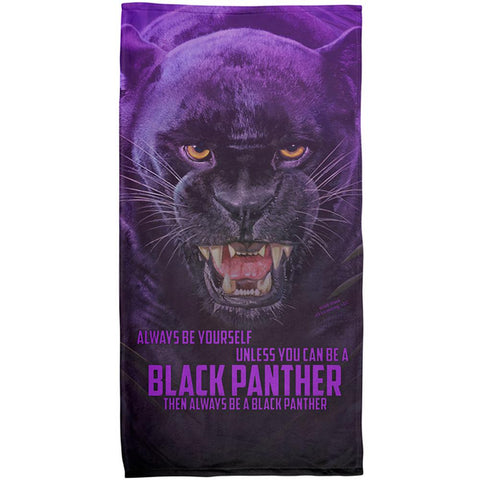 Always Be Yourself Unless Black Panther All Over Beach Towel