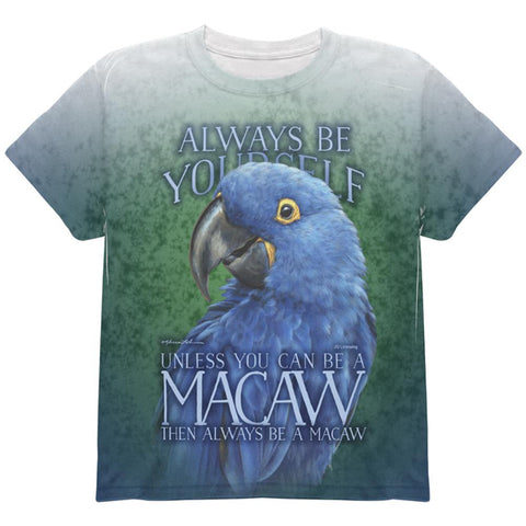 Always Be Yourself Unless Blue Hyacinth All Over Youth T Shirt