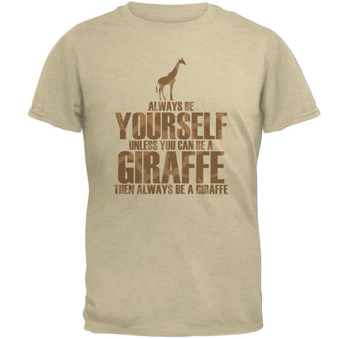 Always Be Yourself Giraffe Mens T Shirt