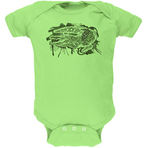 Alligator Swamp Water Splatter Soft Baby One Piece