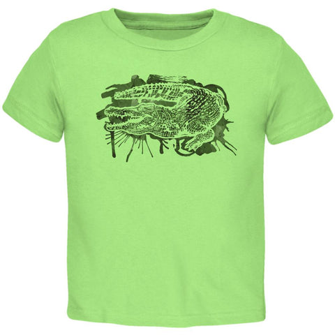 Alligator Swamp Water Splatter Toddler T Shirt