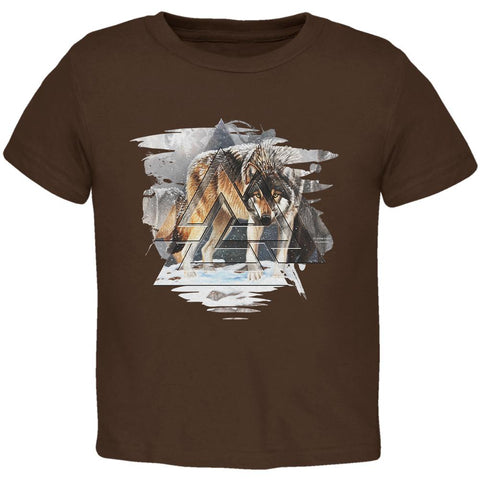 Nordic Wolves of Winter Toddler T Shirt