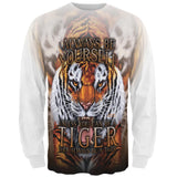Always Be Yourself Unless Wild Tiger All Over Mens Long Sleeve T Shirt