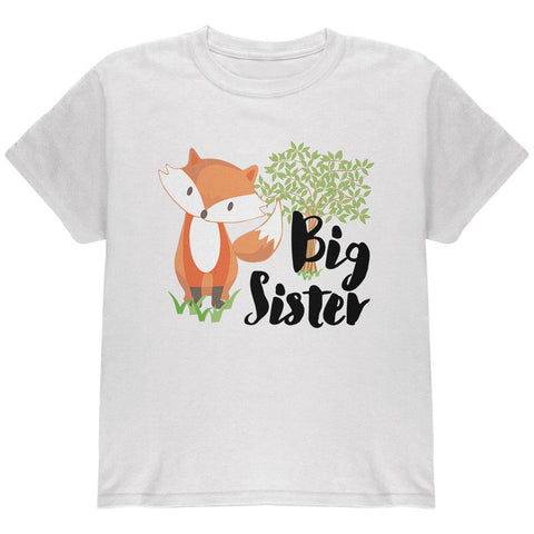 Big Sister Cute Fox Woodland Nature Youth T Shirt