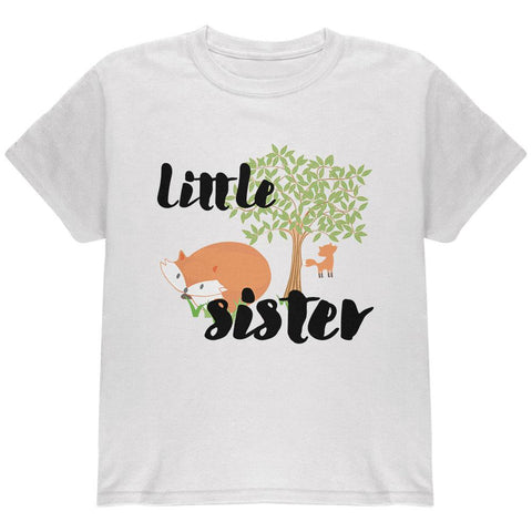 Little Sister Cute Fox Woodland Nature Youth T Shirt