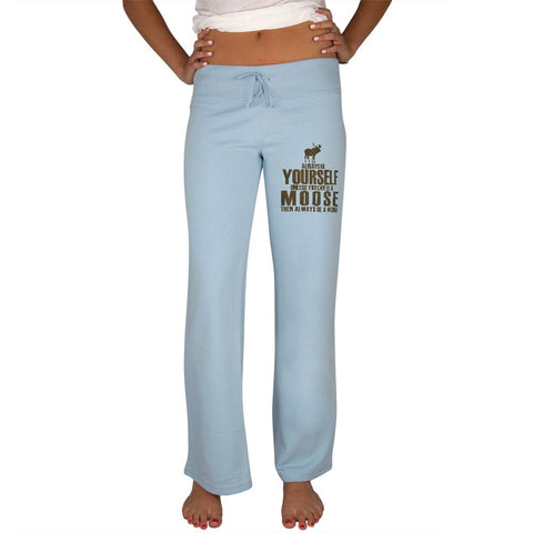 Always Be Yourself Moose Womens Sweatpants