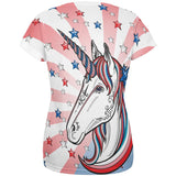 4th of July Freedom is Magical Unicorn All Over Womens T Shirt