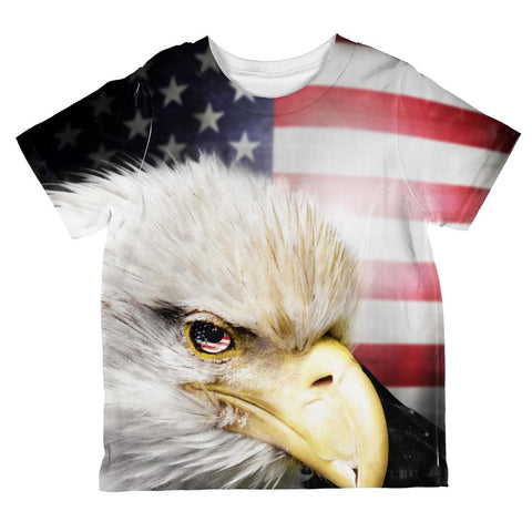 4th of July American Bald Eagle Eye Flag All Over Toddler T Shirt