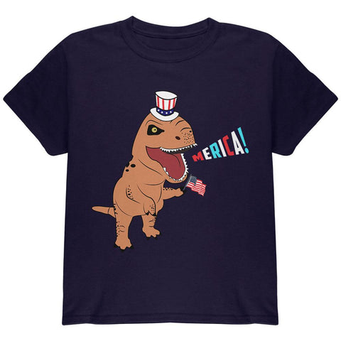 4th Of July Merica Patriotic T-Rex Dinosaur Youth T Shirt