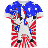 4th of July Dabbing Unicorn Americorn All Over Mens T Shirt