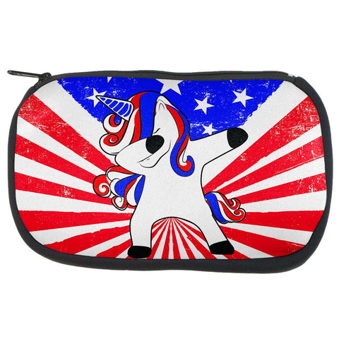 4th of July Dabbing Unicorn Americorn Makeup Bag