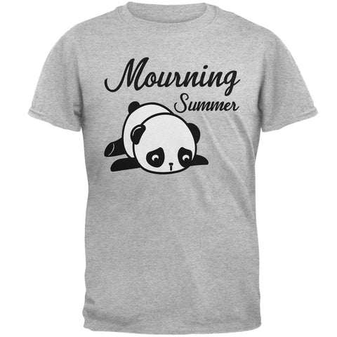 Back To School Mourning Summer Panda Mens T Shirt