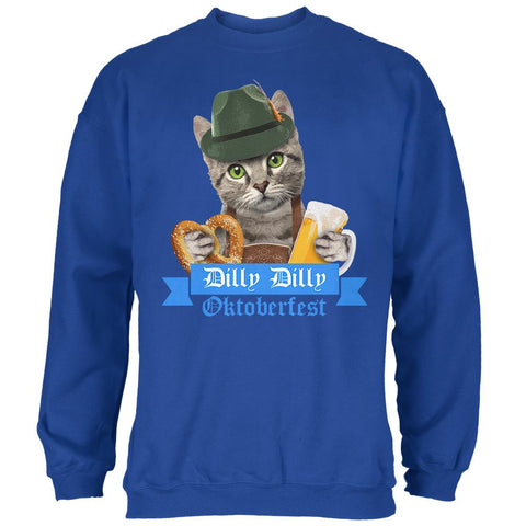 Dilly Dilly Oktoberfest Funny Cat Mens Sweatshirt