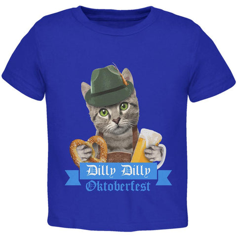 Dilly Dilly Oktoberfest Funny Cat Toddler T Shirt