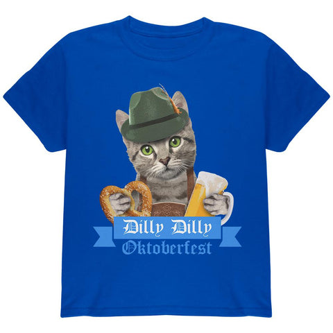 Dilly Dilly Oktoberfest Funny Cat Youth T Shirt