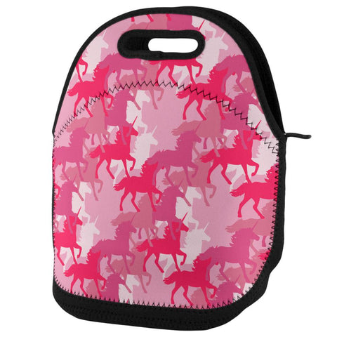 Unicorn Pink Camo Camouflage Lunch Tote Bag