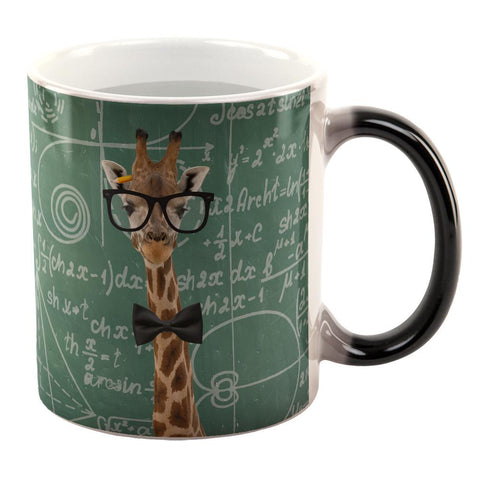Giraffe Geek Math Formulas All Over Heat Changing Coffee Mug