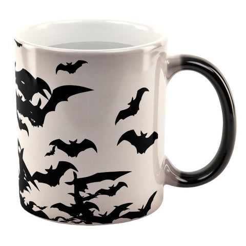 Halloween Bats in Flight All Over Heat Changing Coffee Mug